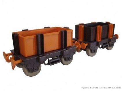 Kindereisenbahn Waggon Set 3 braun / orange