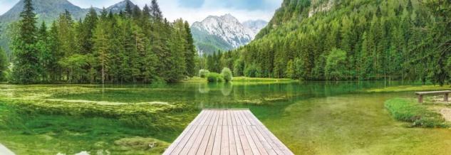 Fototapete Green Lake