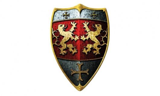 Ritterschild Löwe