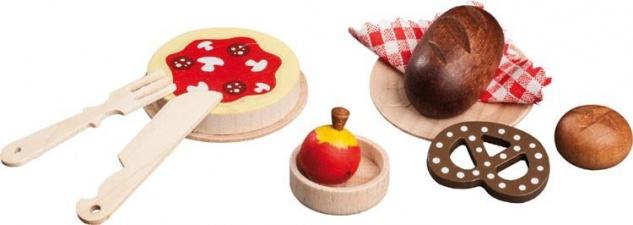 Küchenzubehör für Puppenhaus, Pizza und Brot