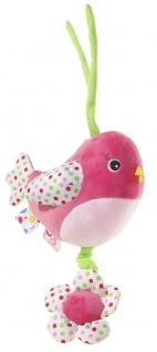 Spieluhr Musik Vogel, 15 cm Farbe pink