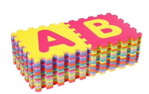 Puzzlematten Alphabet und Zahlen, 36 teilig