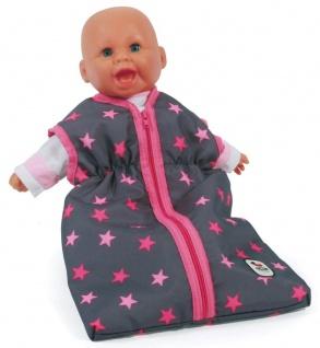 Puppen-Schlafsack, Sternchen pink