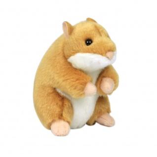 Plüschtier WWF Hamster, sitzend, 12cm Farbe braun