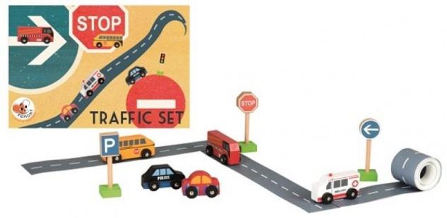 Straßen-Auto-Set mit 5 Autos