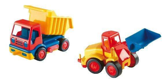 Baufahrzeuge Basics Kipper und Radlader
