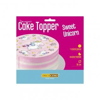 Tortenaufleger Sweet Unicorn