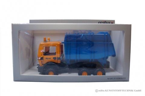 Cityserie Recyclingfahrzeug, im Geschenkkarton Aufsatz blau