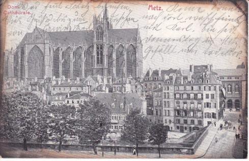Ansichtskarte Dom von Metz, ein altes Original