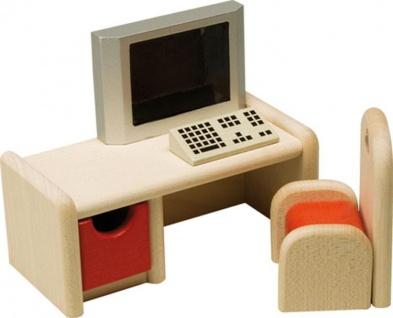 Puppenhausmöbel Schreibtisch mit Computer