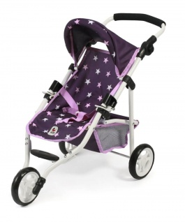"Puppenwagen Jogging-Buggy "" Lola"" Sternchen lila"