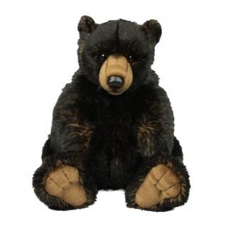 Plüschtier WWF Grizzly Bär, schwarz, sitzend