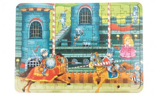 Holz-Puzzle Ritterturnier, 130 Teile