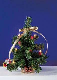 Großer Weihnachtsbaum mit 6 Birnchen, für Puppenhaus