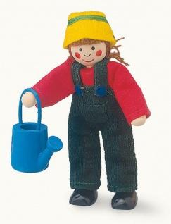 Puppe Mama im Gärtnerlook
