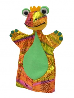 Handpuppe Froschkönig, 27cm