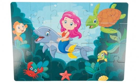 Holz-Puzzle Meerjungfrau, 24 Teile