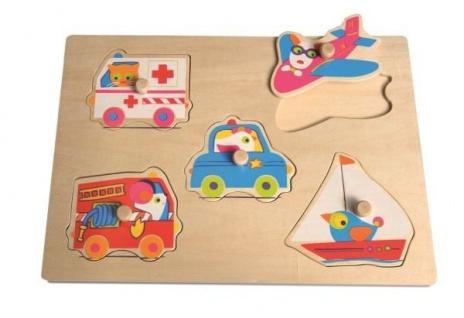 Holzpuzzle Transport