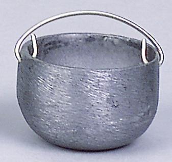 Kessel Zinn, für Krippen, Hobby- und Modellbau, 20 mm, ohne Kette