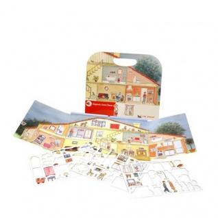 Magnetspiel Haus mit vielen abnehmbaren Magneten - Reisespiel