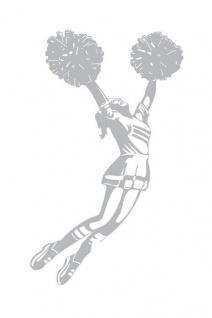 Wand Aufkleber Schattenmotiv Cheerleader