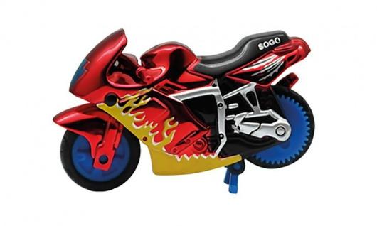 Spin-Go Mini-Stunt-Bike, Flame Red