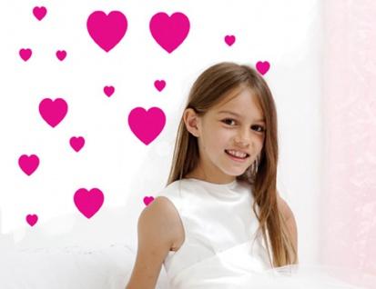 Wand Aufkleber Wall-Art Sticker Rote Herzen