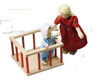Puppenhausmöbel Kinderzimmer Rustikal, Laufgitter