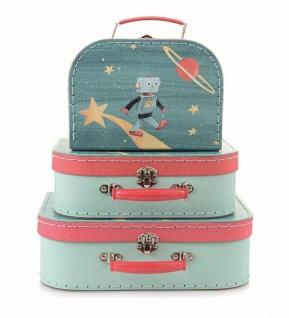 Puppen Kofferset, 3teilig, Sternenroboter