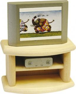 Fernseher mit Unterschrank fürs Puppenhaus