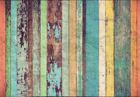 Vlies Fototapete Holzwand, Farbig