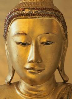 Fototapete Buddha Goldig