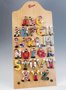 Clown-Buchstabe Holz -J-