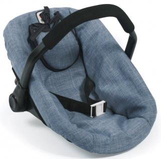 Puppen-Autositz, Jeans blue