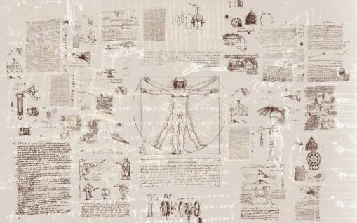Vlies Fototapete Da Vinci