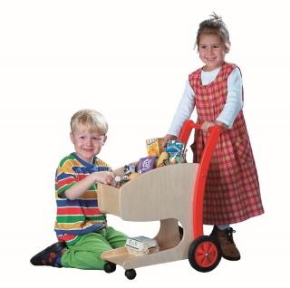 Einkaufswagen für Kinder aus Holz
