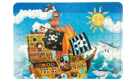 Holz-Puzzle Piratenschiff, 130 Teile