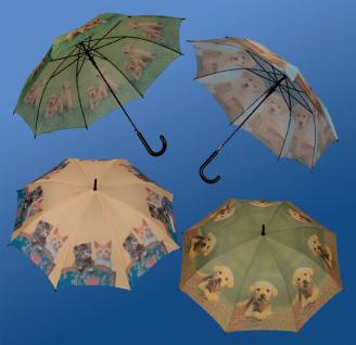 Regenschirm Rundgriff mit süssen Tierkindern