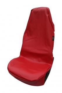 Sitzschoner Kunstleder, rot