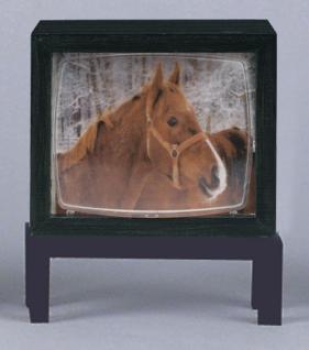 Fernseher auf Tisch drehbar, für Puppenhaus