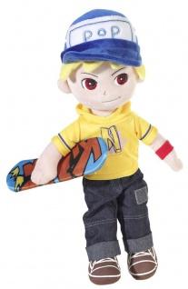 Stoffpuppe Magic Doll Skater-Boy, 35 cm