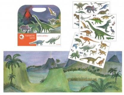 Magnetspiel Dinosaurier, mit vielen abnehmbaren Magneten - Reisespiel