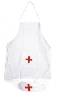 Doktor Set für Kinder Krankenschwester Schürze und Hut für Kinder