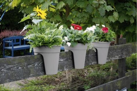 Flowerclip Blumentöpfe, 3er Set, grau