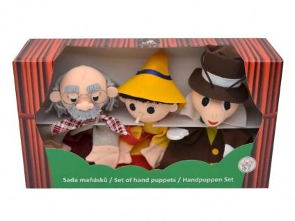 Set-Handpuppen Junge mit langer Nase, Geschenkbox - Handpuppen 3er Set