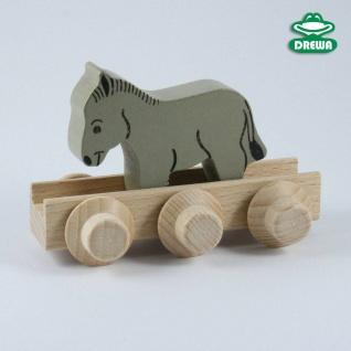 Laufteil für DREWA Kugelbahnen, Bauernhof - Esel