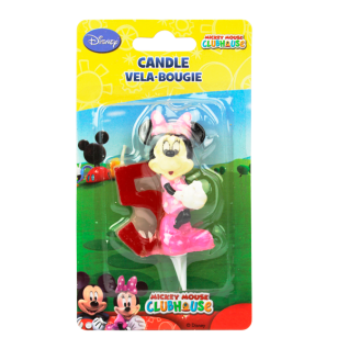 Kuchenkerze 3D Minnie, Zahl 5