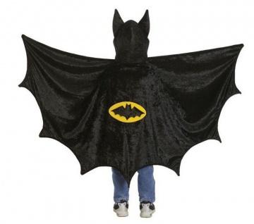 Bat-Cape mit Kapuze M