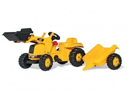Trettraktor rollyKid CAT mit Anhänger und Lader von rolly toys