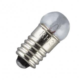 Ersatz-Glühbirne, E 5, 5 Schraubbirne 4, 5 V, 10er Pack